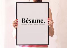 Hey, I found this really awesome Etsy listing at https://www.etsy.com/listing/204259811/besame-spanish-quote-love-print-wall