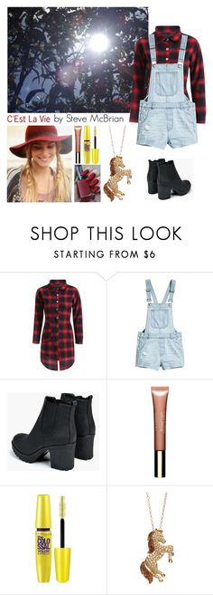 """""""Inspired by """"C'Est La Vie""""."""" by annacastrolima ❤ liked on Polyvore featuring Boohoo, Clarins, Maybelline, Artistique and country"""