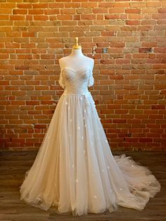 Buy Wedding Dress, One Shoulder Wedding Dress, Wedding Dresses, Lillian West, Wedding Planning, Wedding Ideas, A Line Gown, Nude Color, Wedding Things
