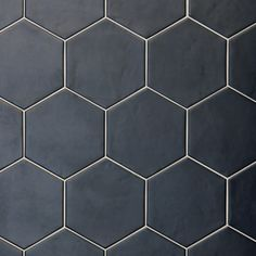 Hexagon tiles are having a great revival. Baked Tiles are delighted to offer a mix of both plain & patterned hexagon shaped tiles with various effect finishes. Toilet Tiles, Bathroom Floor Tiles, Wall And Floor Tiles, Kitchen Tiles, Kitchen Flooring, Wall Tiles, Black Hexagon Tile, Black Tiles, Hexagon Tiles