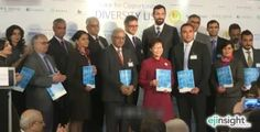 Chief Secretary Carrie Lam and other dignitaries at an event organized by a think-tank Monday to mark the release of a 'Diversity List'. Photo: i-Cable