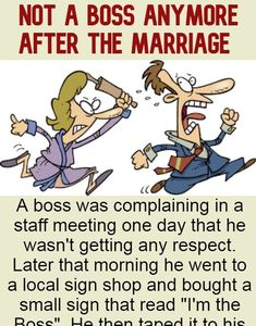 Not A Boss Anymore After The Marriage - A Trending Celebrity Buzz Funny Marriage Jokes, Marriage Humor, Clean Funny Jokes, Older Couples, Funny Couples, Funny Stories, Riddles, Going Crazy, Motivational Quotes