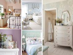 decoración romántica en el dormitorio