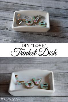 Make this beautiful and easy Anthro-Inspired trinket dish with this fun tutorial. Perfect weekend project, or gift idea!