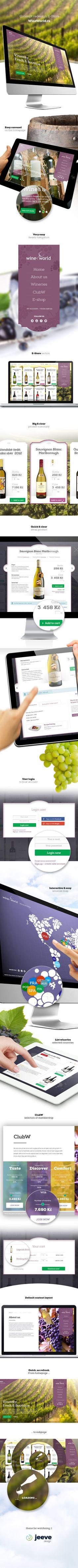 WineWorld - E-Store web design by Jan Vašek, via Behance