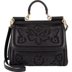 Dolce & Gabbana Floral-Cutout Medium Miss Sicily Bag
