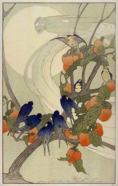 Bertha Lum was one of the Japanizing artists who helped making the art of (Japanese and Chinese) wood block printing known outside Asia, mixing it with the elegant Art Nouveau. Her prints are inspired by old legends and the street life of Beijing.