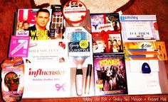 My Holiday Voxbox & Mail for the day is in this picture.....    My Voxbox Had the following in it.....    ~Kiss Nail Dress  ~Eboost Drink mix  ~Face Mask  ~Goody Hair Brush  ~NYC Lip Color  ~Sole Society $TwentyFive off coupon   ~Quaker Oatmeal Cup