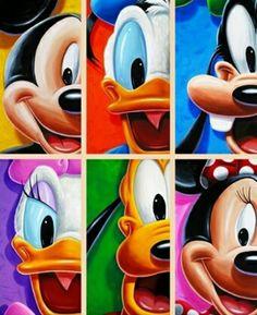 Mickey Mouse, Donald Duck, Goofy Goof, Daisy Duck, Pluto and Minnie Mouse Disney Cartoons, Disney Pixar, Walt Disney, Disney Characters, Mickey Mouse Wallpaper, Disney Wallpaper, Mickey Mouse And Friends, Mickey Minnie Mouse, Disney Love
