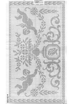 "Photo from album ""Burda special Filet au crochet on Yandex. Filet Crochet Charts, Crochet Borders, Crochet Motif, Crochet Doilies, Crochet Lace, Lace Patterns, Cross Stitch Patterns, Crochet Patterns, Cross Stitch Freebies"