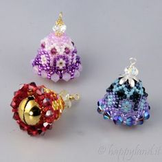 Le gioie di Happyland - patterns: Campanelle -  beaded bells