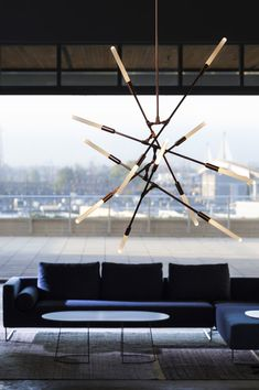 Dawn12 Chandelier in Brushed Copper - Designed by Matthew McCormick