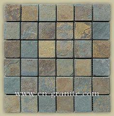 slate mosaic border