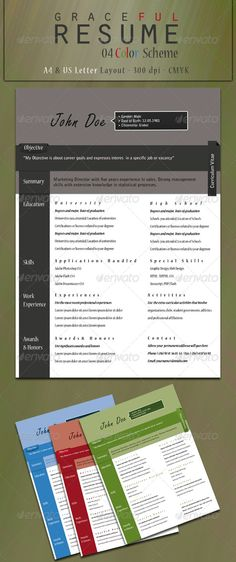 Graceful Resume by ~kh2838 on deviantART