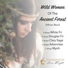 Wild women of the ancient forest - white fir, douglas fir, clary sage, arborvitae and myrrh