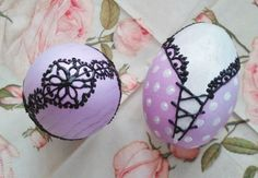 Eggs, hand painted for Easter