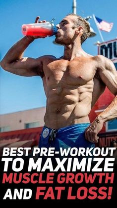 Find out what is the best pre-workout and nutrition before your workout to maximize muscle growth and fat loss! Build Muscle Fast, Gain Muscle, Muscle Mass, Good Pre Workout, Fat Loss Drinks, Muscle Nutrition, Muscle Protein, Fitness Nutrition, Cheese Nutrition