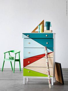 An easy paint DIY for your dresser.