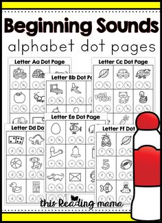Beginning sounds alphabet dot pages - this reading mama word study activities, phonics activities, Printable Alphabet Letters, Preschool Letters, Learning Letters, Preschool Learning, Preschool Activities, Uppercase Alphabet, Early Learning, Teaching, Word Study Activities