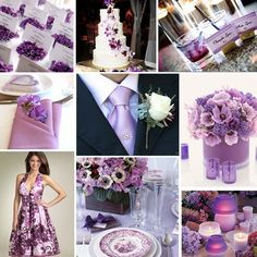 purple and lilac wedding. Replace the purple with Gray and you have my dream wedding