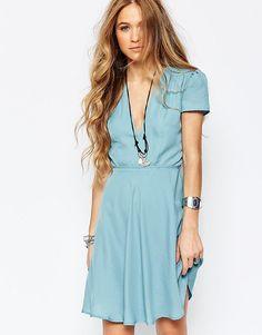 Image 1 ofGlamorous Belted Tea Dress