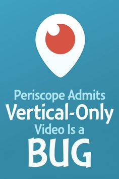 Mobile #livestreaming has made a resurgence in early 2015 with #Meerkat and #Periscope. But these iOS apps have been limited to amatuer-style vertical video. Periscope is the first company smart enough to finally acknowledge that vertical-only video is, indeed, a bug to be fixed.