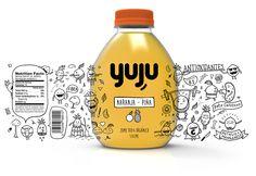 YUJU on Packaging of the World - Creative Package Design Gallery Beverage Packaging, Bottle Packaging, Brand Packaging, Design Packaging, Kids Packaging, Graphic Design Lessons, Food Graphic Design, Brochure Design, Branding Design