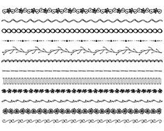 Easy to Draw Border Designs   Easy Borders To Hand Draw Hand drawn photoshop brushes