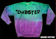 Custom Colors Dubstep Sweatshirt by ShopHeroineCouture on Etsy, $40.00
