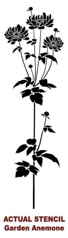 Flower Stencil Garden Anemone  Reusable by CuttingEdgeStencils, $34.95