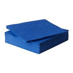 FANTASTISK Paper napkin, blue - IKEA Napkin 20 large 30 beverage one dollar dollar store no orange check party city