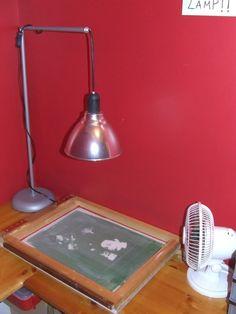 light exposure for photo emulsion screen printing