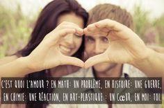 Phrase amour et déclaration