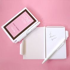 love notes personalized notepad favor