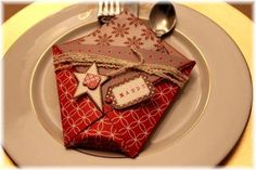 napkin  fold--cute idea--picture only