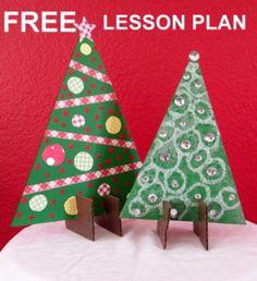"""Christmas """"Easy-Art"""" Stand-up Christmas Trees"""
