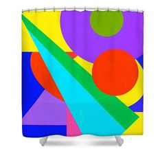 Color and Shape Series  #2 Shower Curtain by Regina Geoghan