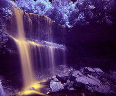purple nature | Purple nature - nature, world, purple, waterfall