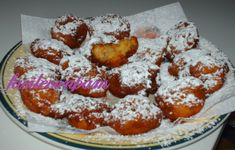 frittelle di polenta Polenta, American Food, Cereal, French Toast, Food And Drink, Breakfast, Desserts, Oven, Be Nice