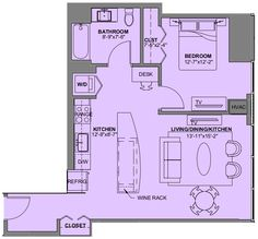 Floor Plan For A One Bedroom Apartment Experience73 In Chicago IL