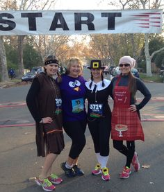 Davis Turkey Trot Half Marathon Nov 23, 2013. The Indian, Turkey, Pilgram and baker girl.