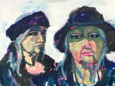 Portrait composition study in acrylic on paper by Mary-Jean Dudok de Wit.