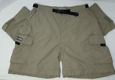 REI Womens 100% Nylon UPF 50+ Khaki/Beige Zip Off Hiking Pants/Shorts Size 8