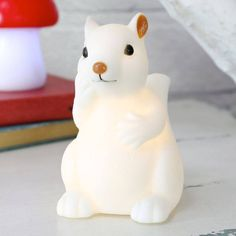 Baby Squirrel Night Light-too cute! Animal Lamp, Childrens Lamps, Kids Clothing Rack, Happy Lights, Nursery Lighting, Squirrel Girl, Room Of One's Own, Gifted Kids, Baby Dragon