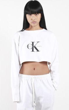 Vintage Calvin Klein Crop Sweatshirt