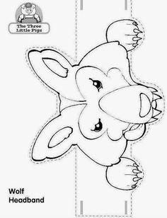 Eu Amo Artesanato: Bichinhos de Papel com moldes Traditional Tales, Album Jeunesse, Wolf, Three Little Pigs, Animal Masks, Preschool Themes, Felt Patterns, Animal Projects, Coloring Pages For Kids