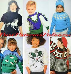 Star and Cat Kids Pullover Sweater Lovely Crew Neck Knitted Sweater for 2-6T