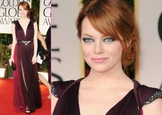 The only thing more gorgeous than Emma Stone's Lanvin dress at the 2012 Golden Globes? Her stunning makeup (by the ever-talented Rachel Goodwin).