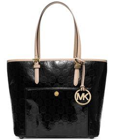 5a563b2363c7 MICHAEL Michael Kors Jet Set Item Medium Snap Pocket Tote Handbags    Accessories - Macy s