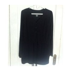 Thin Black Tunic ✔️ NWOT • Would work for a smaller size also • Ties at mid-line • Perfect for a light cover-up for the beach • 50% Rayon, 50% Polyester Merona Tops Tunics